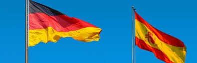 german and spanish flags